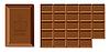 Векторный клипарт: Шоколадная плитка