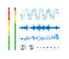 Векторный клипарт: Заметки, кнопки и звуковые волны