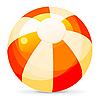 Векторный клипарт: Яркий Пляжный мяч, изолированных на белом фоне, Illustra