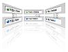 Векторный клипарт: Безопасное подключение сети в веб-браузере