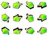 Векторный клипарт: символ руки мышь
