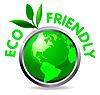 Vector clipart: Eco glossy icon