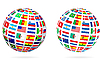 Vector clipart: Flag globe sphere