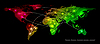 Векторный клипарт: карте мира. Концепция связи