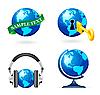 Vector clipart: Globe icon set