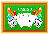 Vector clipart: gambling with casino elements