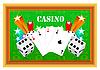 Vektor Cliparts: Glücksspiel Casino-mit Elementen