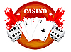 Vector clipart: gambling design with casino elements