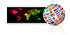 Vector clipart: Globe frome flag