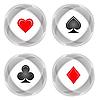 Vektor Cliparts: Kartenklagen. Abbildung