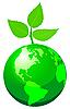 Векторный клипарт: Зеленый земной шар