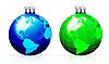 Vector clipart: Globe christmas balls