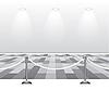 Векторный клипарт: Пустой белой комнате с лампой