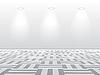 Vector clipart: Empty white room
