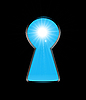 Vector clipart: Sunlight from the keyhole