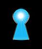 Vektor Cliparts: Sonnenlicht aus dem Schlüsselloch