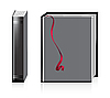 Vector clipart: Empty books on the white