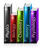 Векторный клипарт: разноцветные книги
