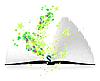 Vector clipart: Open magic book