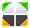 Векторный клипарт: Набор цветных лент углу