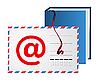 Векторный клипарт: Адрес электронной почты книга