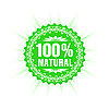 Vector clipart: 100 percent natural product label
