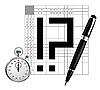 Vector clipart: japan crossword
