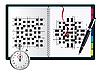 Vector clipart: blank crossword in note