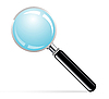 Vector clipart: magnifying glass