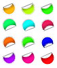 Vector clipart: round stickers