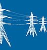 Vector clipart: power line