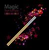 Vektor Cliparts: Schöne Magie Hintergrund mit Zauberstab