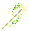 Vector clipart: Beautiful magic background with wand