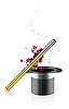 Vector clipart: magic wand and hat