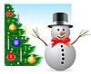 Vektor Cliparts: Weihnachten und Neujahr