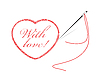 Vector clipart: embroidery with heart