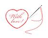 Векторный клипарт: вышивка с сердцем