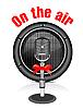 Vector clipart: retro microphone