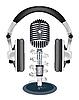 Vector clipart: headphones witn microphone