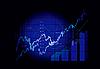 Vector clipart: Stock market graphs