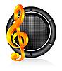 Vector clipart: Speaker sound background