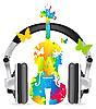 Vector clipart: Speaker headphones