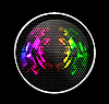 Vector clipart: Abstract Futuristic Speaker with Glowing Lights