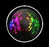 Vektor Cliparts: Abstract Futuristic Lautsprecher mit leuchtenden Lichter