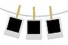 Vector clipart: Designer concept - blank photo frames for your photos