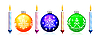 Vector clipart: Christmas tree sphere and candle