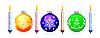 Vektor Cliparts: Christbaum Kugel und Kerze
