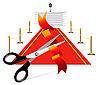 Векторный клипарт: Красный ковер у трибуны
