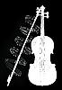 Vector clipart: Violine