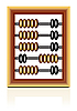 Vector clipart: wooden abacus on white